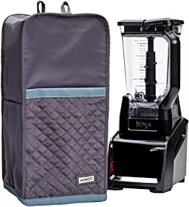 HOMEST Quilted Blender Dust Cover with Accessory Pocket Compatible with Ninja Foodi, Grey (Patent Pending)