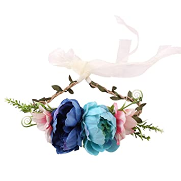 1PC child headdress garland seaside holiday simulation flower headband hair band