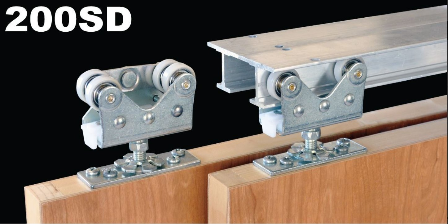 Johnson Hardware 200SD 2-Door Bypass Hardware Set, 72 in. Tracks (Doors Weighing Up to 300 lbs. each) by Johnson Hardware (Image #2)
