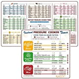 Cheat Sheet Magnets Set for Instant Pot, Electric Pressure Cooker Cook Times Quick Reference Guide Compatible with Instapot, Magnetic Cook Time Reference Stickers and Decals, Good Gift Choice