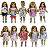 ZITA ELEMENT Super Value 8 Sets Doll Outfit for 18 inch American Girl Doll Clothes - Ramdon Design