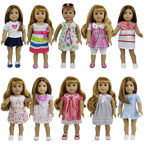 ZITA ELEMENT 8 Sets American 18 Girl/Baby Alive Clothes Dress for 14-16 & 18 Dolls