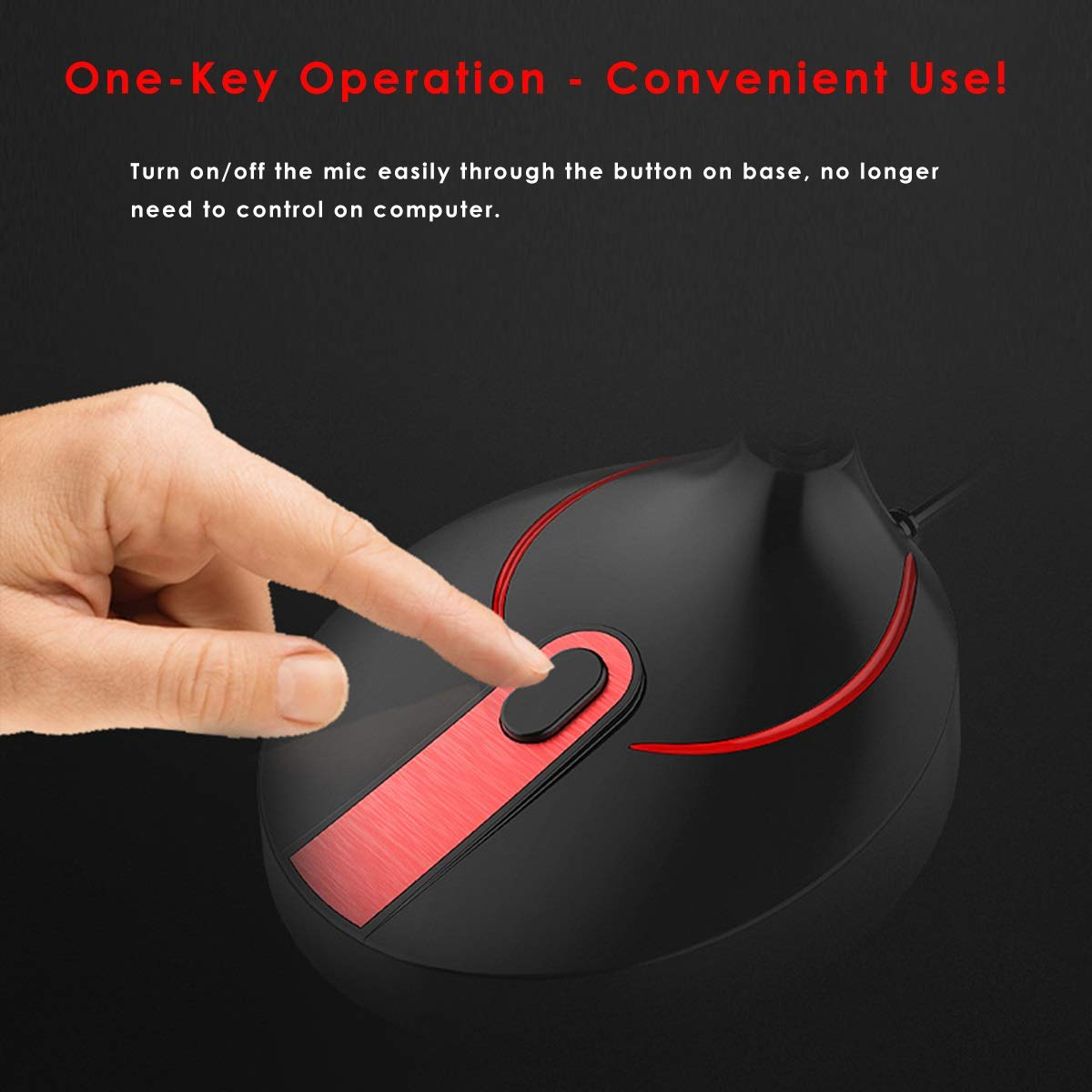 Color : USB - Black+Red Mintata 3.5mm Plug//USB Omnidirectional Microphone Desktop Computer PC Laptop Microphone for Recording Office Meeting Video Chatting