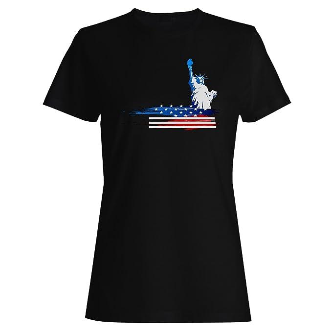 Nuevo 4 Th Of July Usa America camiseta de las mujeres i388f: Amazon.es: Ropa y accesorios
