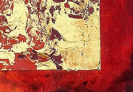 B/&D XXL murando Impression sur Toile intissee 100x49 cm 4 Pieces Tableau Tableaux Decoration Murale Photo Image Artistique Photographie Graphique Abstraction Abstrait 93511