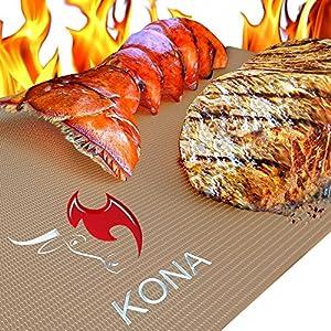Kona Gold Grill & Bake Mats ~ New ~ Nonstick Heavy Duty Grill Accessories BBQ Mats (Set of 2)