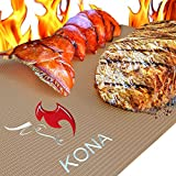 Kona Gold Grill & Bake Mats ~ New ~ Nonstick Heavy Duty Grill Accessories BBQ Mats (Set of 2)