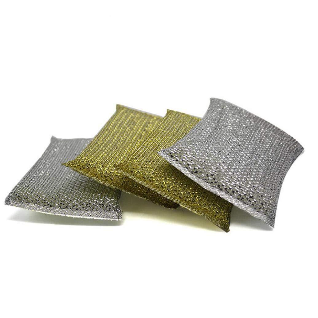 4pcs /Épaississement Scrubber /Éponges Antimicrobienne Cuisine Brosse De Nettoyage Durable Brosse /éponge Pad Couleur Al/éatoire D/écapage