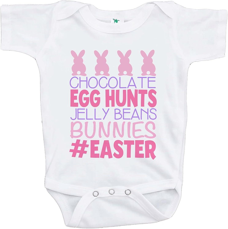 Custom Party Shop Babys Baby Bunny Happy Easter Pink Raglan