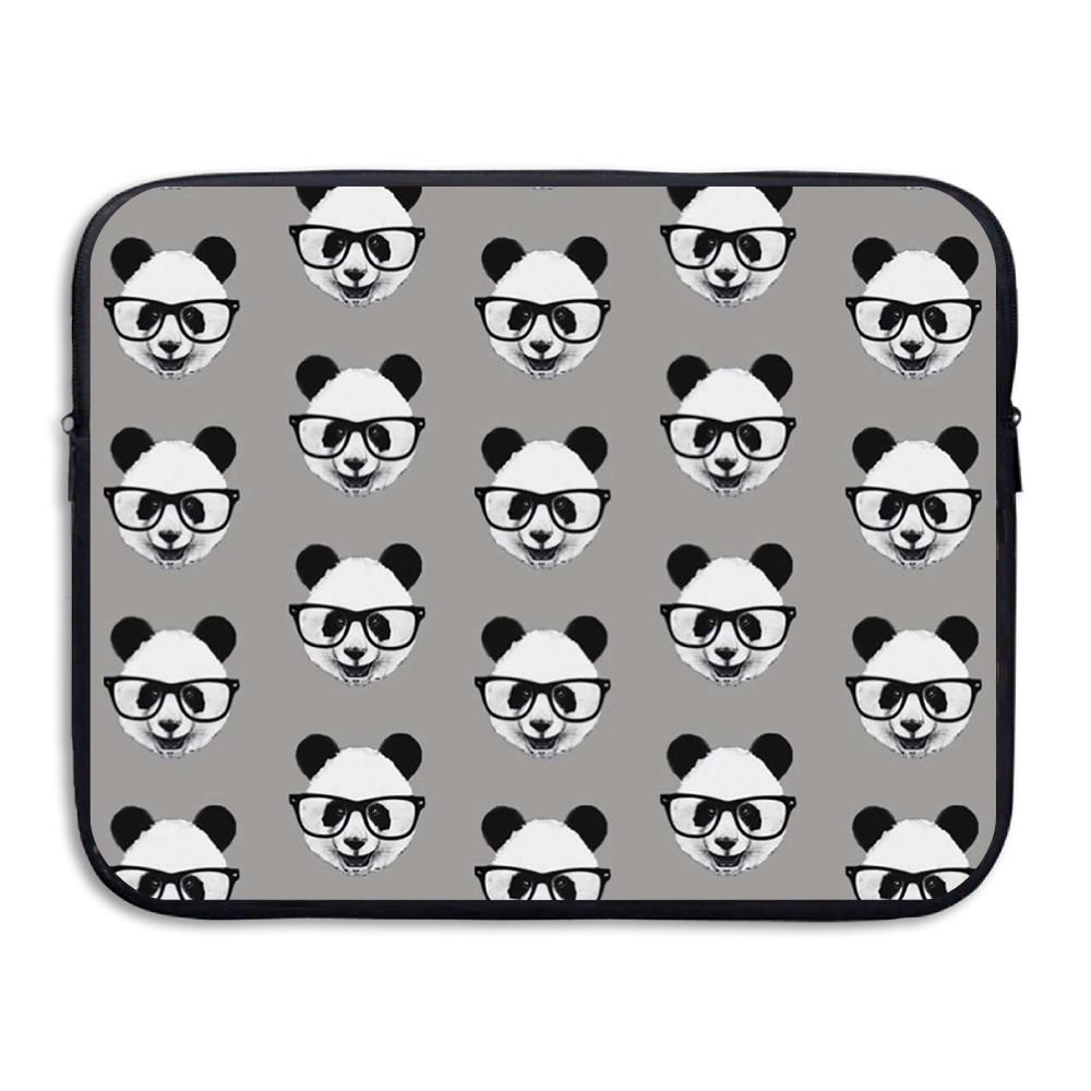 Mr.Roadman Laptop Sleeve Bag Cute Glasses Panda Head Briefcase Sleeve Bags Cover Computer Liner Case Waterproof Computer Portable Bags