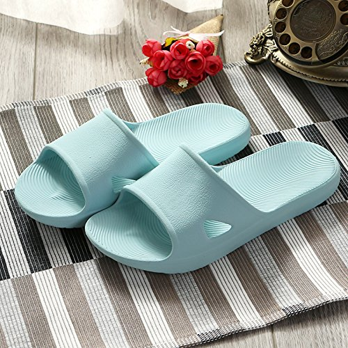 YMFIE Los Amantes de Las Sandalias de Ducha Antideslizante Home Espuma Blanda Piscina Exclusiva Zapatos Zapatos de baño Wathet
