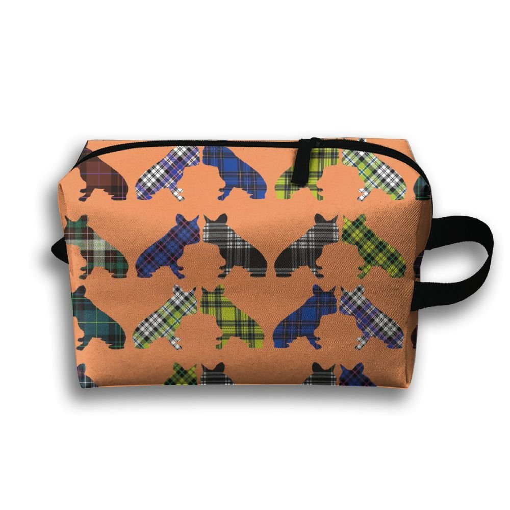 low-cost Tartans Frenchies Scotland Printed Travel Toiletry Bag Multifunction Portable Bag Cosmetic Bag For Home Office Camping Sport Gym Outdoor