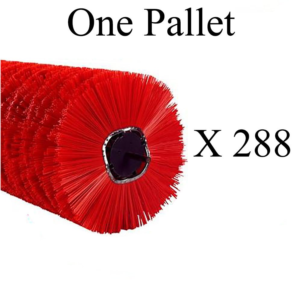 01-5878 One Pallet (X288) of 10X32 Poly & Wafer Mixed Brooms for Street Sweeping, Road Construction, Tractor Mount Sweepers, Skid Steer Loaders, and More