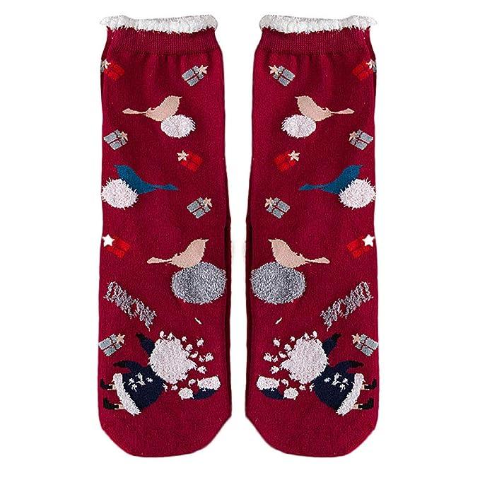 Sylar Calcetines Para Mujer Invierno Barato Calientes Lindo Santa Claus Grueso Cálido Algodón Suave Casual Tobillo Protector Calcetines Casual Cómodos: ...