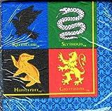 Harry Potter Hogwarts House Mascots Party Napkins