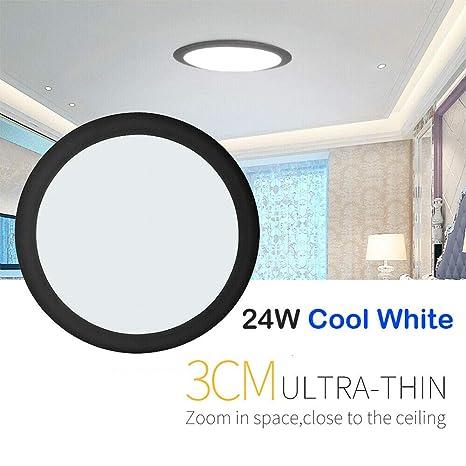24W LED Deckenleuchte Wohnzimmer Deckenlampe Küche Beleuchtung Weiß Wandlamp