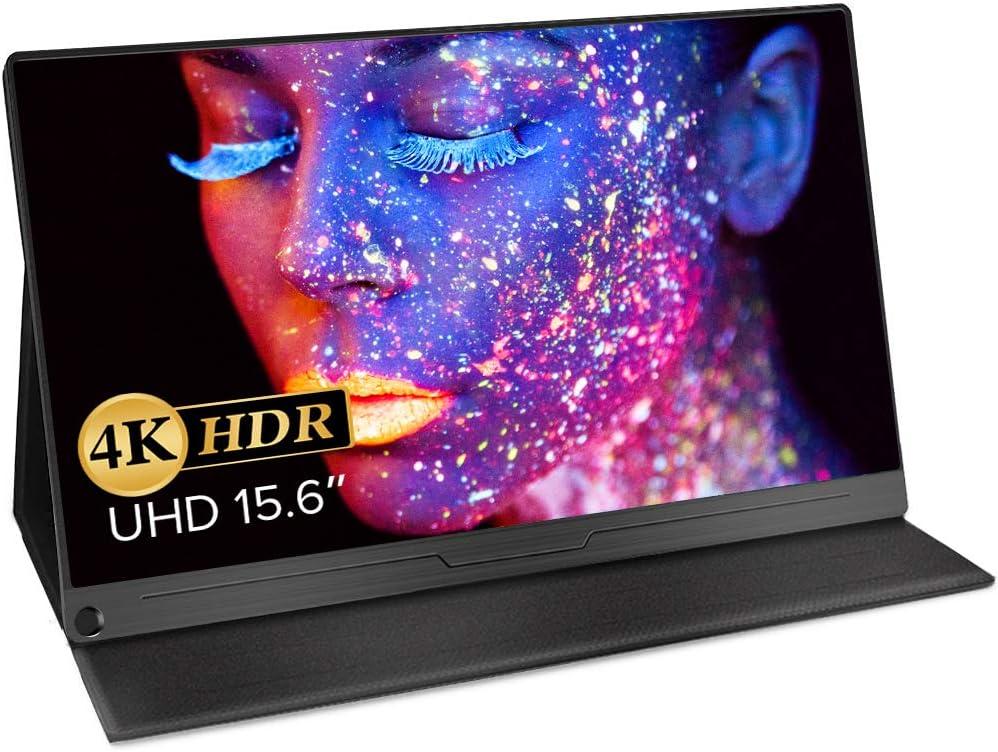 モバイルモニター EVICIV 15.6インチ モバイルディスプレイ 4K Adobe100%色域 HDR 薄型 IPSパネル USB Type-C/標準HDMI/mini DP スリーブケース付 EVC-1504
