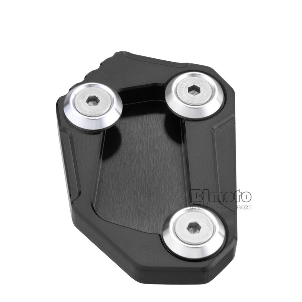 Black For BMWS1000R HP4 2014-2016 New Motorcycle CNC Kickstand Extension Plate Foot Side Stand Enlarge Pad