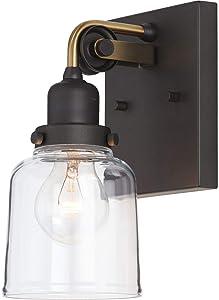 "Progress Lighting P300226-143 Rushton Bath & Vanity, 9-1/2"" x 5"", Black"
