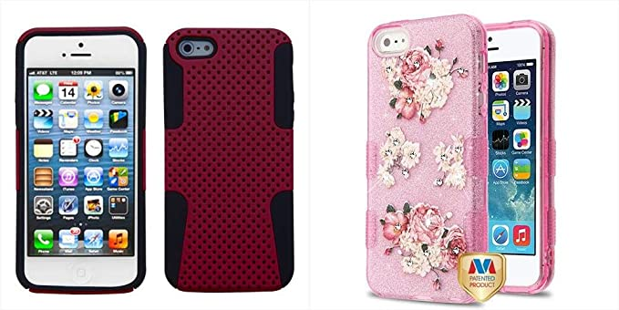 2998184286902d Combo pack Red Black Astronoot Phone Protector Cover for APPLE iPhone 5s 5  APPLE