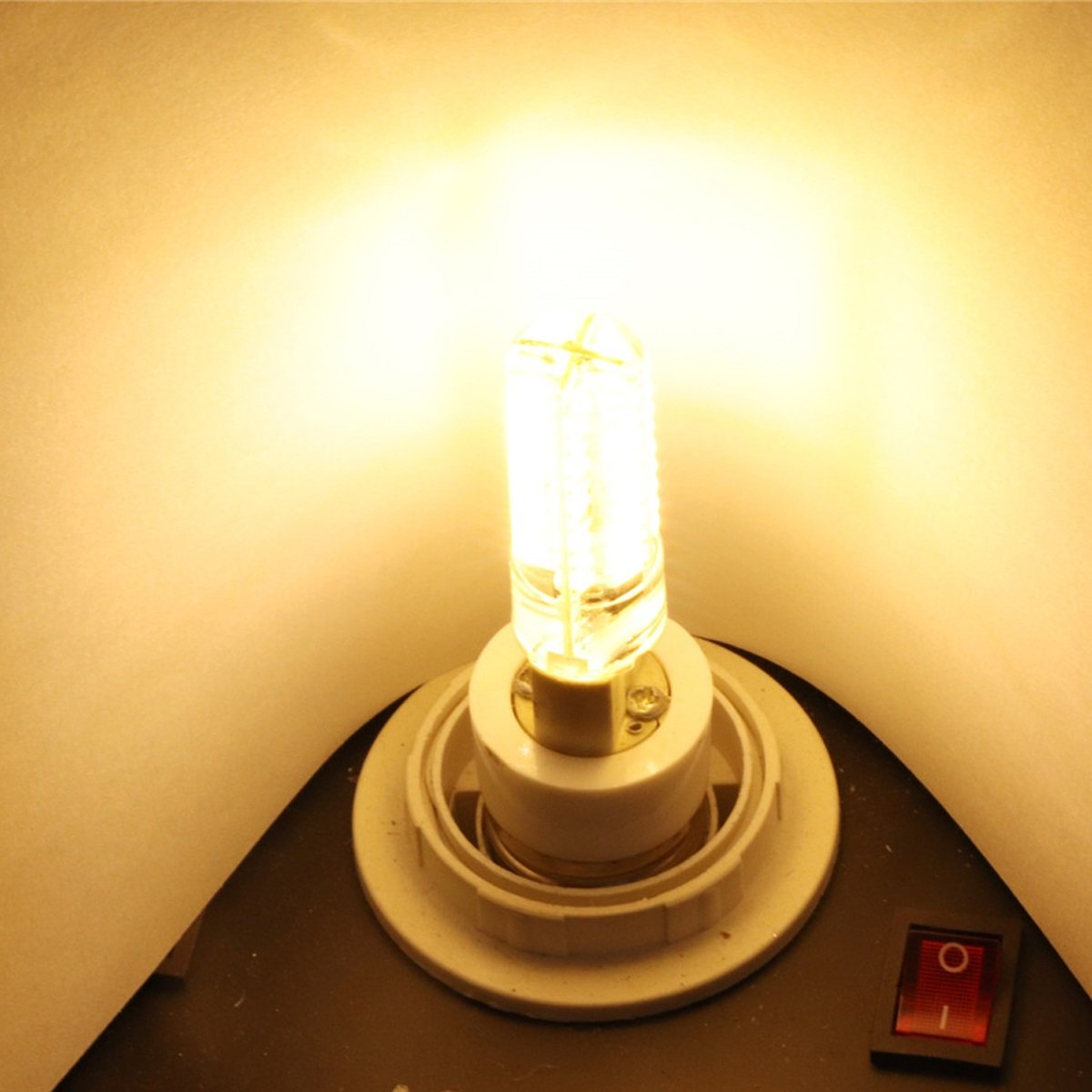 Size : Warm White 1PCS HESANYU CA Dimmable G4 5W 80 LED 4014 SMD Warm White Cool White LED Silica Gel Lamp AC 110-130V