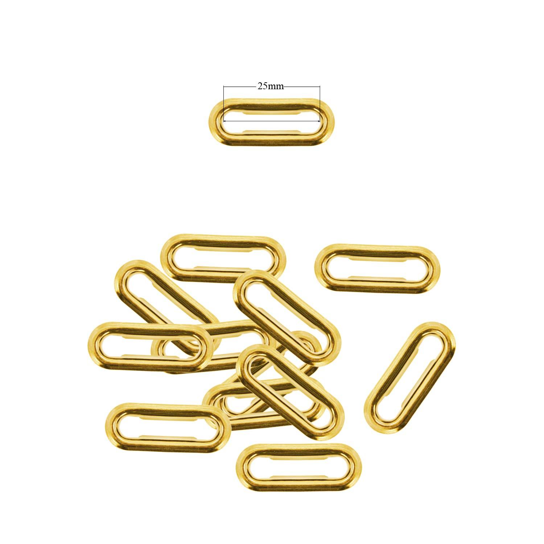 Hebillas 20 mm Bolsos Bronce Cartel Creaci/ón de Piel Ovalado Ojales Ojales con Arandelas para Tela Artes y Manualidades Set 50
