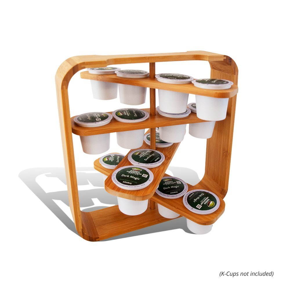 Everything Bamboo Cup holder Compatible With K-Cup by Everything Bamboo