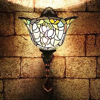 ALUS-8 inch European retro wall lamp aisle balcony lighting Cafe Restaurant creative chic Tiffany wall sconce