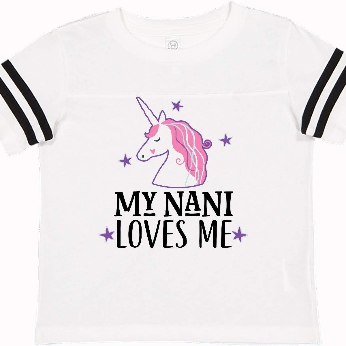 inktastic My Nani Loves Me Unicorn Toddler T-Shirt