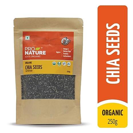 Pro Nature 100% Organic Chia Seeds, 250g