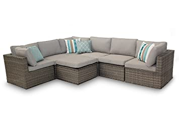 Rattan ecksofa garten  Rattan Ecksofa Garten Möbel Manchester 7pc Natural Sofa-Set ...