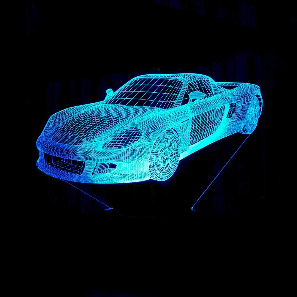 7 Farben Retro Schaukel Auto 3D Nachtlicht Acryl Platte RGB Ändern LED Schreibtisch Tischlampe 3D Illusion Lampen für Jungen Geschenke