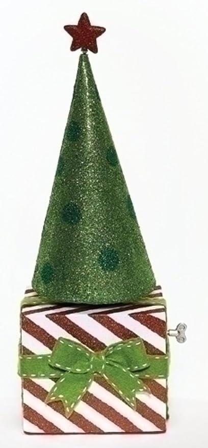 amazon com 20 musical oh christmas tree rotating glitter