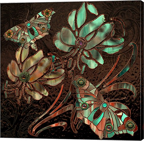 Copper Butterflies by Mindy Sommers Canvas Art Wall Picture,