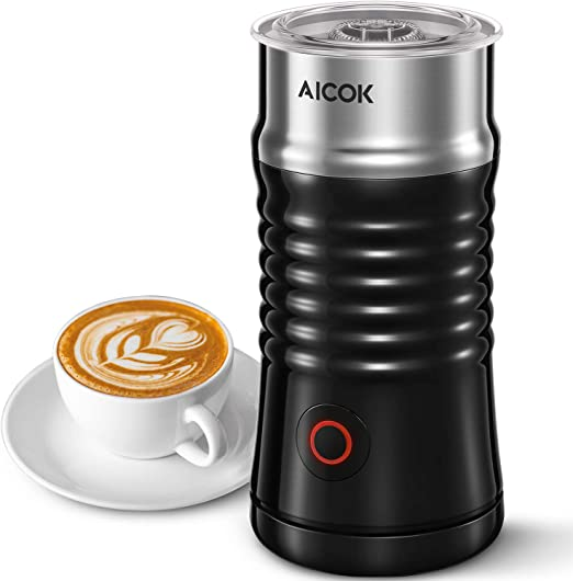Silent Operation for Cappuccino Hot Chocolate Milk Frother VAVA Electric Milk Steamer for Hot and Cold Milk Froth with Double Wall Non-Stick Interior Latte Strix Control Coffee