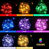 GDEALER 8 Pack Fairy Lights Battery Operated 7.2ft 20 Led String Lights Firefly Lights 8 Colors Christmas Lights Copper Wire Led Lights for DIY Wedding Dinner Party Bedroom Christmas Decor
