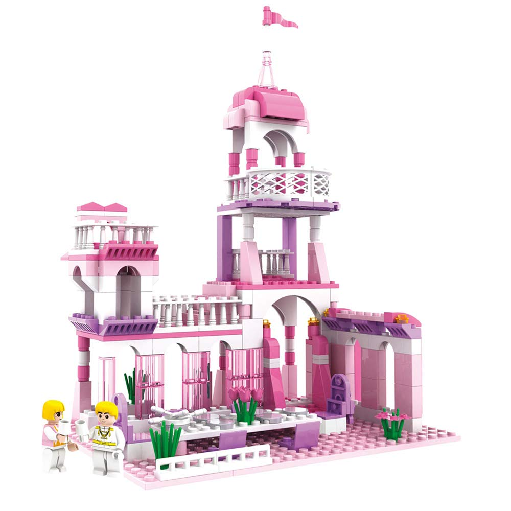 MONING.C Girls Princess Castle Blocks Set 254 Pieces Toys for Girls Building Bricks Construction Toys for Kids Pink Assembly Toy Christmas Birthday Gift Kids Age 6+