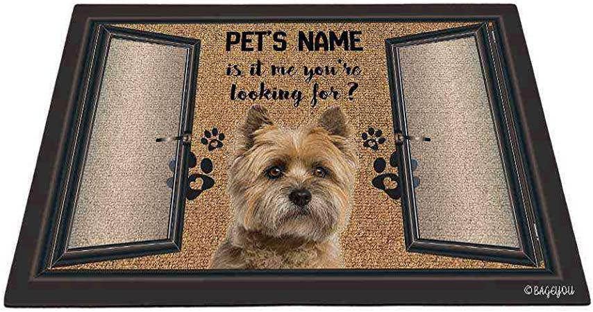 With or Without Initials//Short Name In Your Choice of Colors Cairn Terrier Dog Heavy Cotton Hand Towel Custom Made