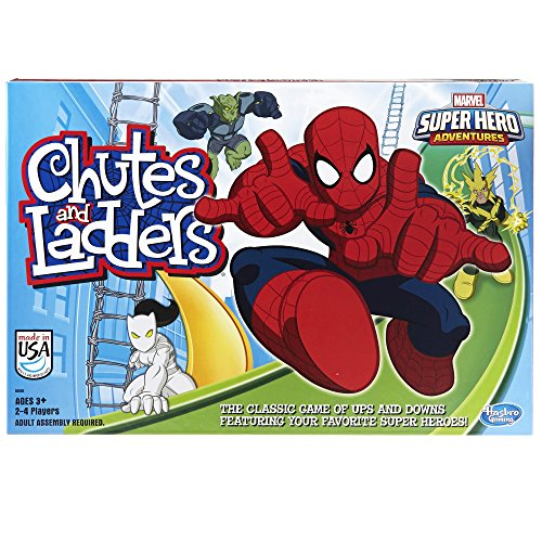Games for 5 year old boys  Marvel Spider-Man Web Warriors Chutes & Ladders Game