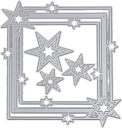 Cadre décoratif en métal coupe moule scrapbooking spécial carte modèle