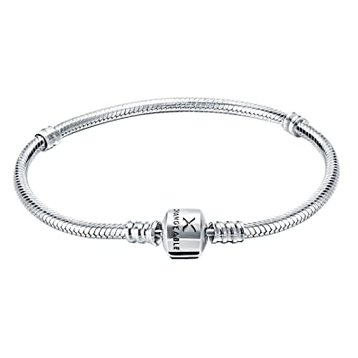 Jewellery & Watches Sterling Silver Bracelet With 17 Sterling Silver Charms