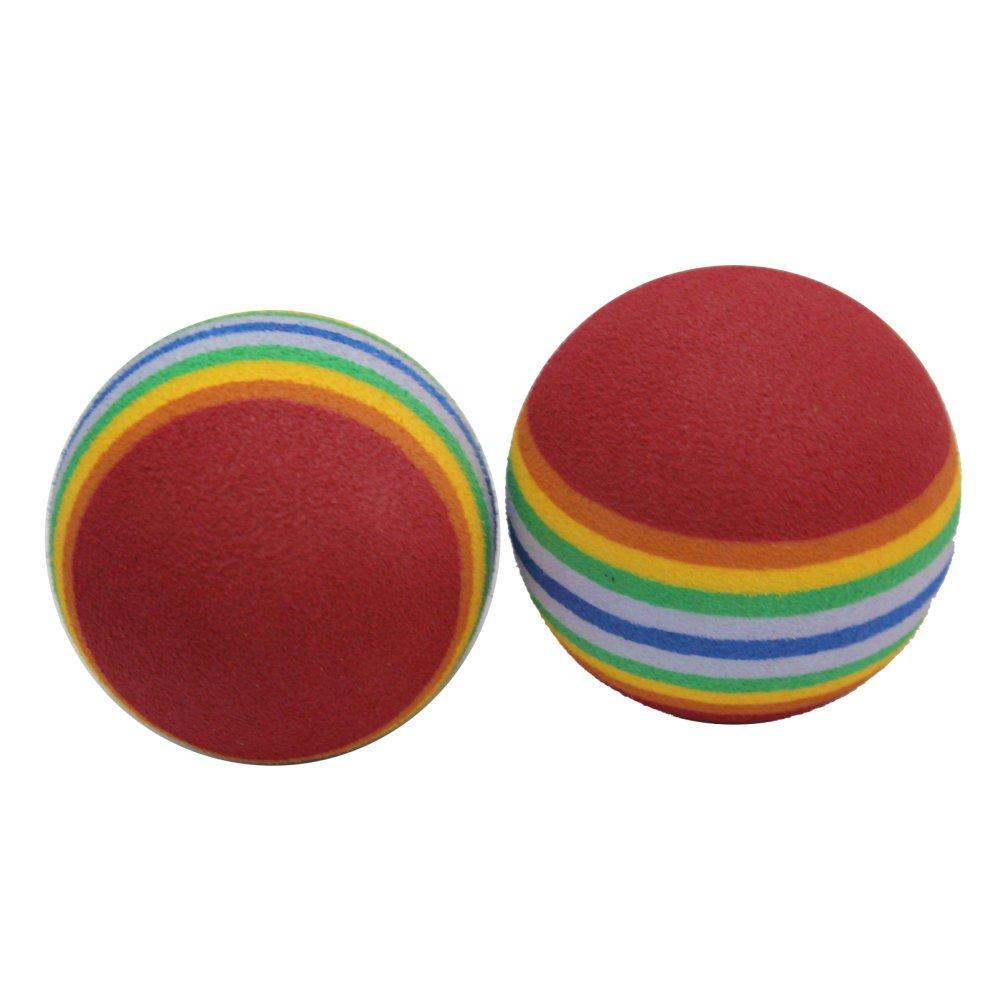 Awakingdemi 50 Pack EVA Foam Golf Balls Golf Golfer Swing Training Aids Indoor Practice Rainbow Balls or Cat Toy by Awakingdemi (Image #5)