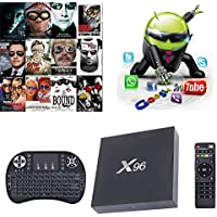 X96 S905X Android 6.0 Quad Core HD Smart TV Box 4K KODI 16.1 2G/16GB Supports 3D 4K WIFI + Backlight Flying Mouse Keyboard Combo