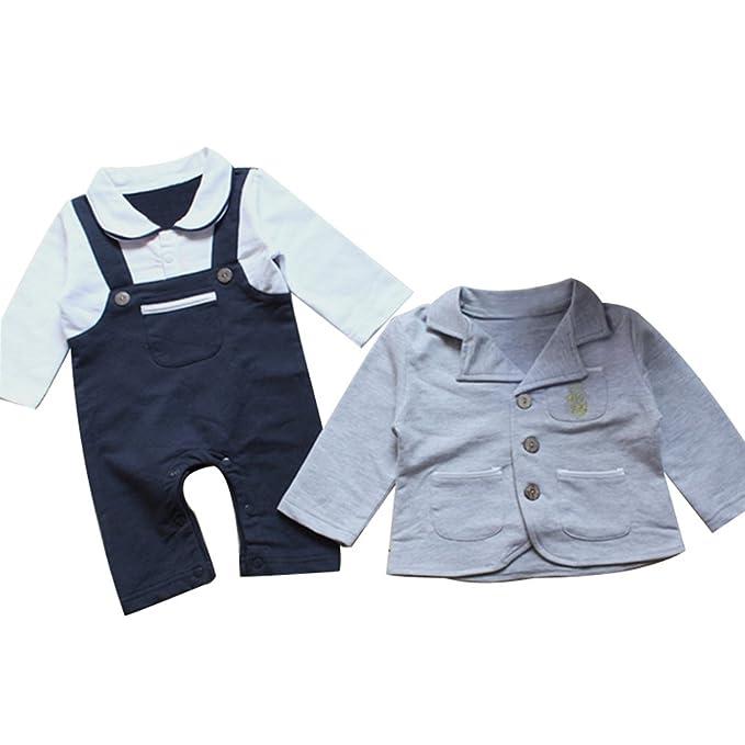 Le SSara Infantil niño caballero boda mameluco y chaqueta Formal llevar traje de: Amazon.es: Ropa y accesorios