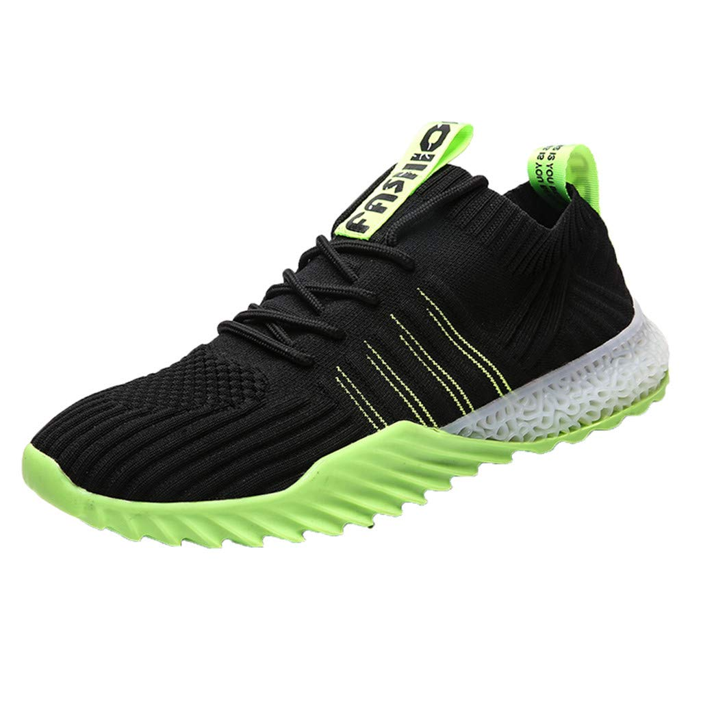 Men Sneakers Fashion Athletic Lightweight Walking Running Tennis Jogging Shoes (US:9, Green) by Suoxo Men Shoes