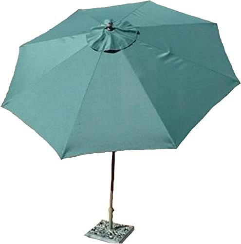 Formosa Covers 9ft Aluminum Market Umbrella Crank tilt Color Hunter Green