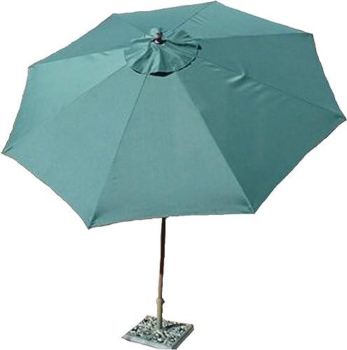 Formosa Covers 9ft Aluminum Market Umbrella Crank tilt Color Hunter Green