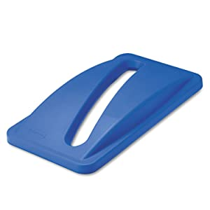 Rubbermaid FG270388 Blue Slim Jim Paper Recycling Top