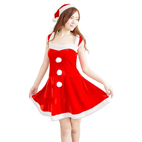 haocloth women christmas party dress santa costume christmas costumes sexy santa dress