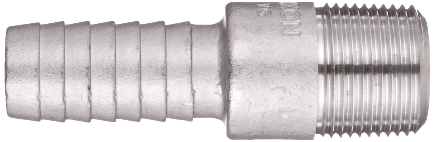 Dixon RST5 Stainless Steel 316 Hose Fitting King Combination Nipple Threaded End with No Knurl 3//4 NPT Male x 3//4 Hose ID Barbed